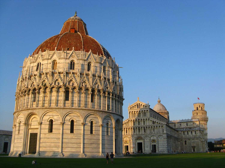 Baptysterium, katedra i wieża