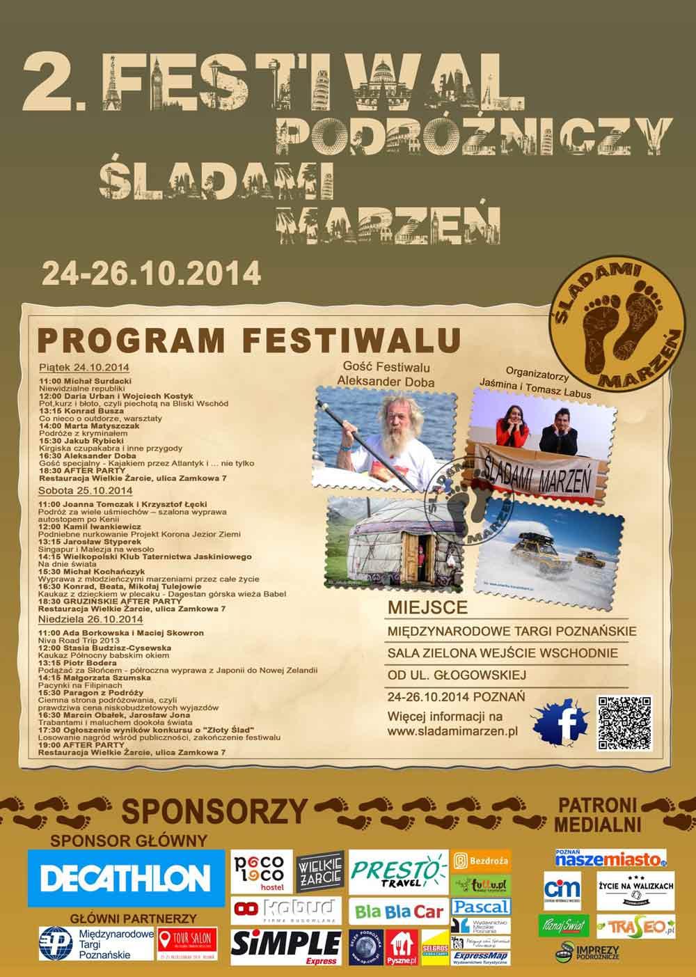 Plakat 2 festiwalu Śladami Marzeń